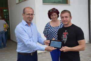 кметът д-р Германов заедно със сенсей Христо Терзиев