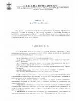 Заповед №287 от 25.04.2019