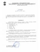 Заповед за СИК на територията на общината